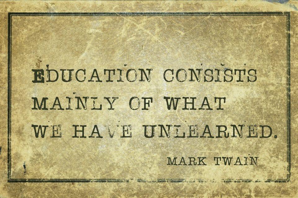 Unlearn before you relearn